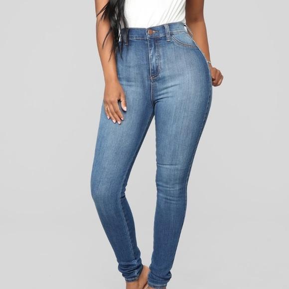 Luxe high waist skinny jeans- medium wash!